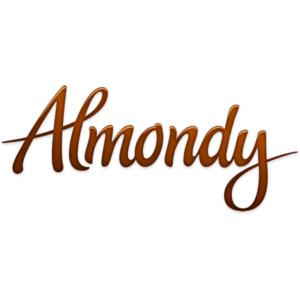 Almondy logo on white background
