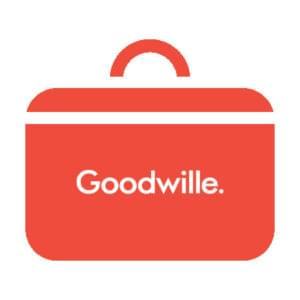 Red Goodwille briefcase logo