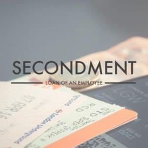 Secondment image overlayed on travel tickets