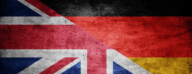 German & UK Flag
