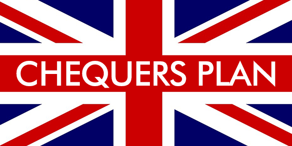 Chequers plan text on British flag