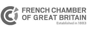 French chamber of Great Britain grey logo
