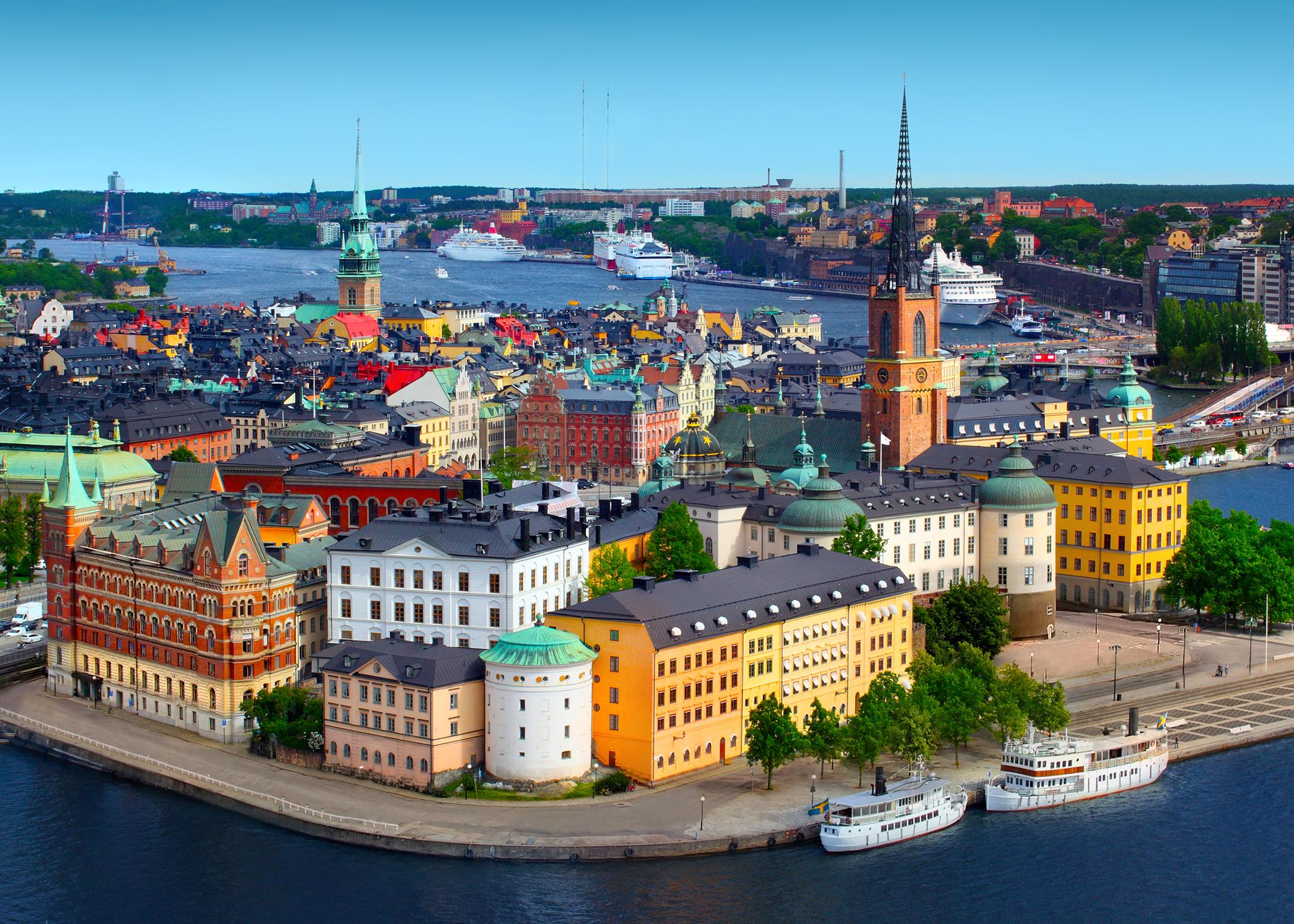 Stockholm skyline landscape sweden