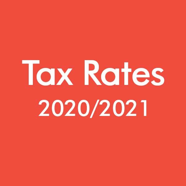 Tax Rates 2020-2021